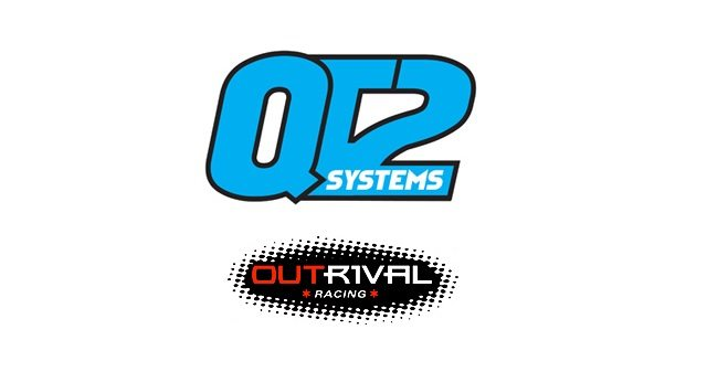 QT2 Systems and OutRival Racing logos