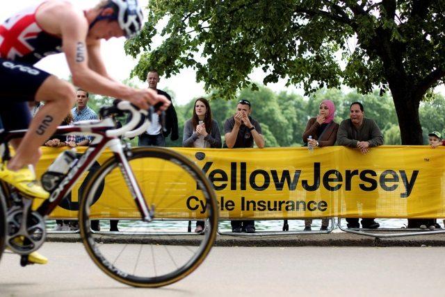 Yellow Jersey branding at PruHealth ITU World Triathlon Hyde Park 2014