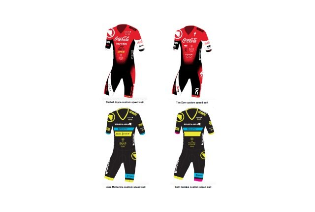 Endura - sponsored triathletes custom speed suits