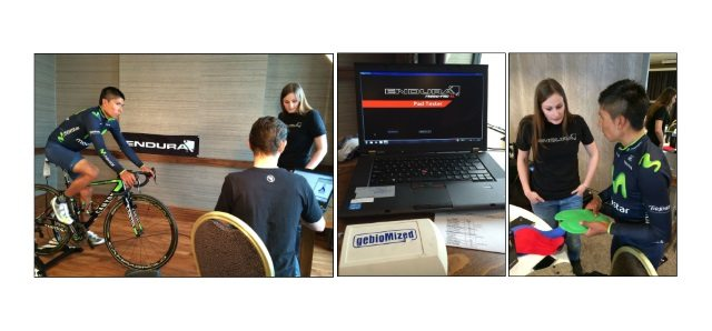 Movistar Pad Fitting Session with Cyclefit and gebioMized-Endura PadFit System with Nairo Quintana
