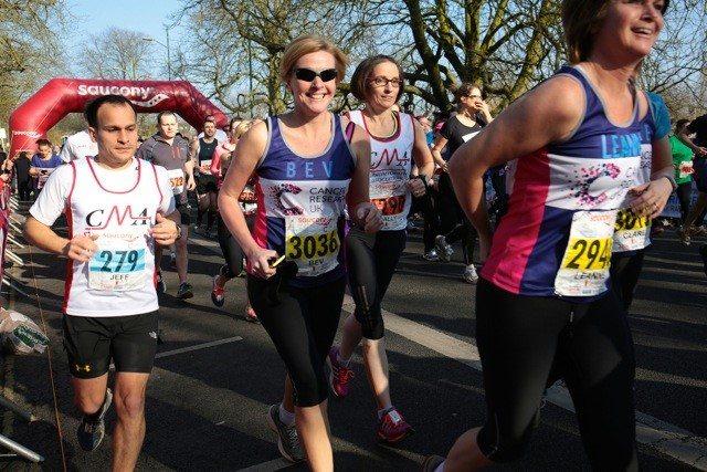 One Step Beyond - Saucony Cambridge Half Marathon charity runners