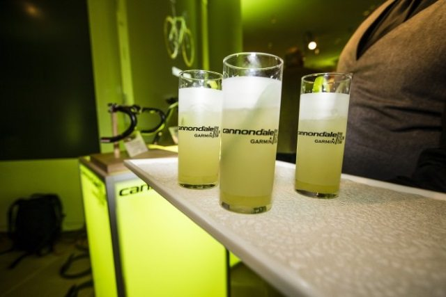 Drinks at Cannondale-Garmin Pro Cycling launch
