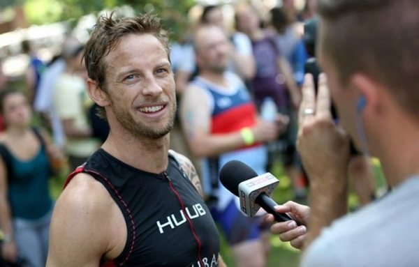 TV cameras at 2013 Jenson Button Trust Triathlon