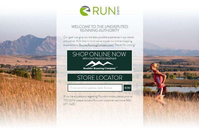 Run.com landing page