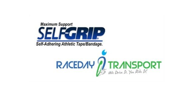 SelfGrip and Raceday Transport logos
