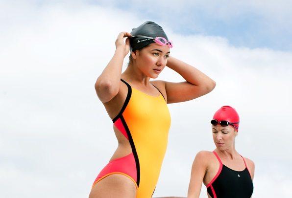 Cindy by Aqua Sphere orange and black - lifestyle swimwear