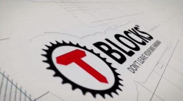 T-BLOCKS - don't leaving your bike hanging - banner