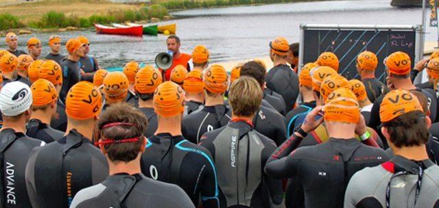 Swim briefing at Votwo event