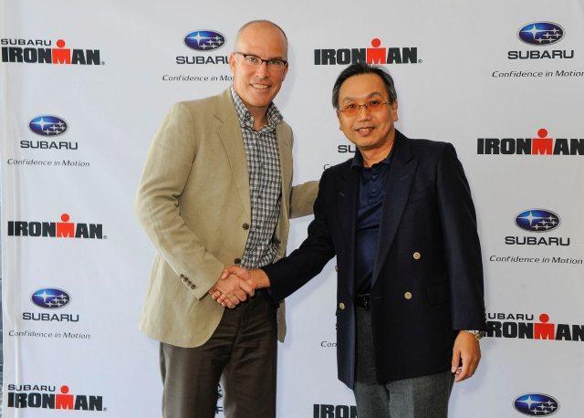 Subaru Canada sponsors IRONMAN events in Canada - Andrew Messick and Shiro Ohta