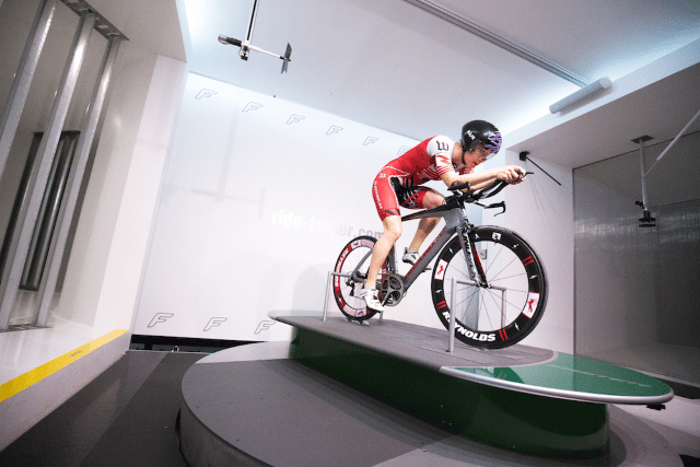 Pro triathlete Rachel McBride rolls with Reynolds AERO