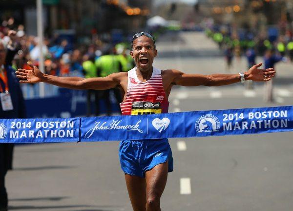 2014 Boston Marathon champion Meb Keflezighi