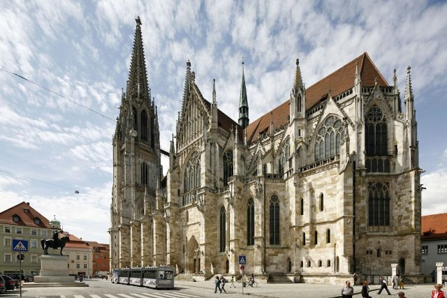 Gothic cathedral of St Peter in Regensburg, Germany