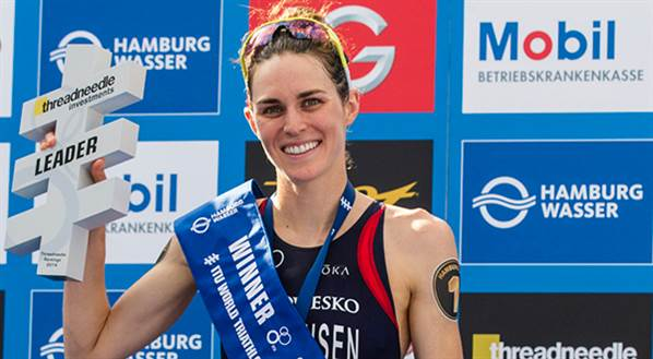 Pro triathlete Gwen Jorgensen - Photo Paul Phillips, Competitive Image