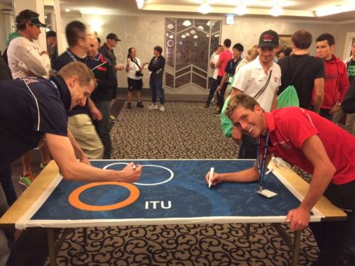 USAT offers fans auction of autographed ITU flag to benefit Nepal