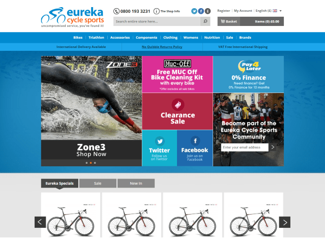Eureka Cycle Sports rolls out new website