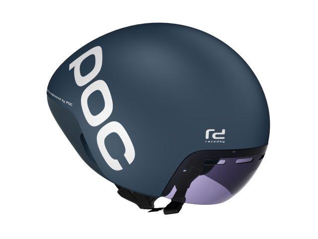 New POC Cerebel Raceday - Nickel Blue - helmet