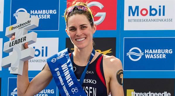 Pro triathlete Gwen Jorgensen - Photo Paul Phillips, Competitive Image