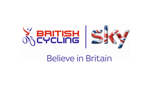 British Cycling and Sky - Believe in Britain logo