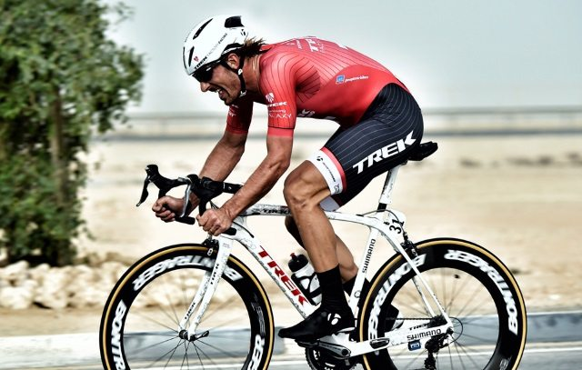 Fabian Cancellara riders with the Bontrager Ballista road helmet