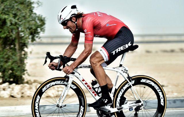 Fabian Cancellara riders with the Bontrager Ballista road helmet