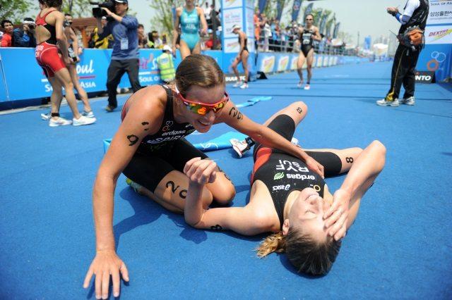 Nicola Spirig and Daniela Ryf at ITU race - photo ITU