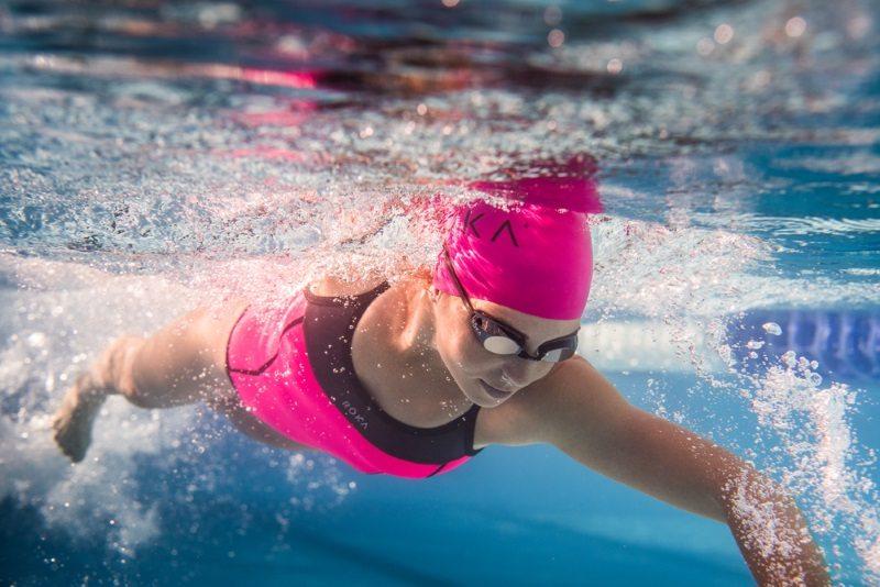 ROKA swimwear - Ashley Gentle swimming