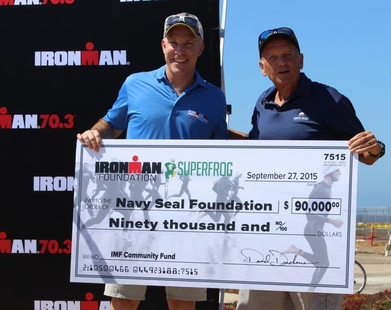 IRONMAN Foundation donation to Navy SEAL Foundation