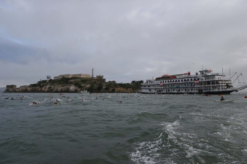 Escape from Alcatraz ferry swim start