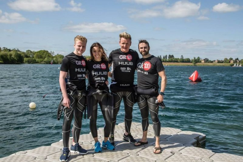 Precision Coaching team with Gordon and Tana Ramsay at open water training day