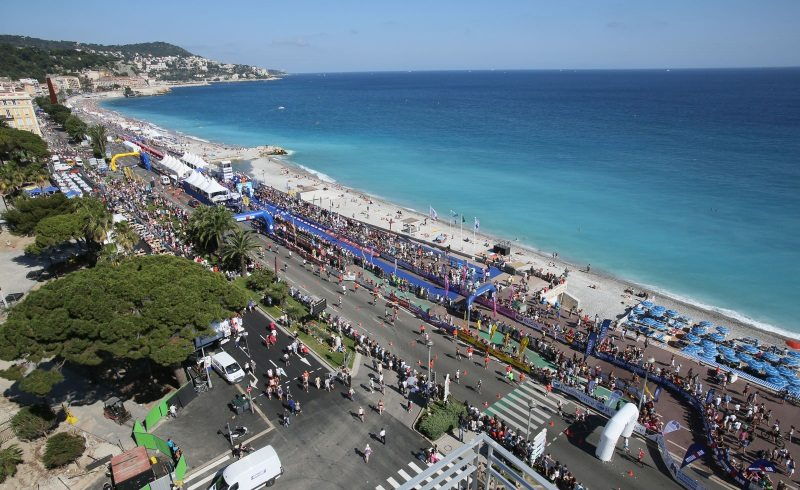 IRONMAN Nice - France - on the seafront - photo credit WTC-IRONMAN