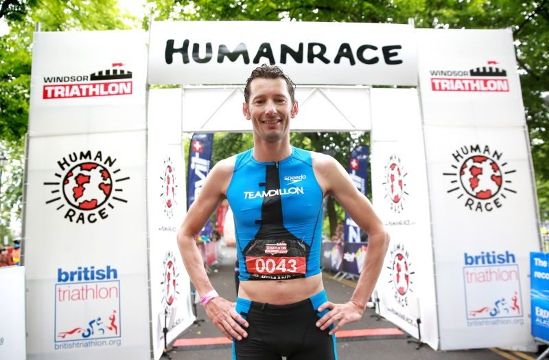Stuart Hayes at Windsor Triathlon 2015