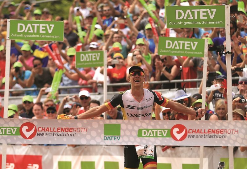 Nils Frommhold wins the mens race at Challenge Roth 2015 in Roth, Germany - Photo Stephen Pond Getty Images