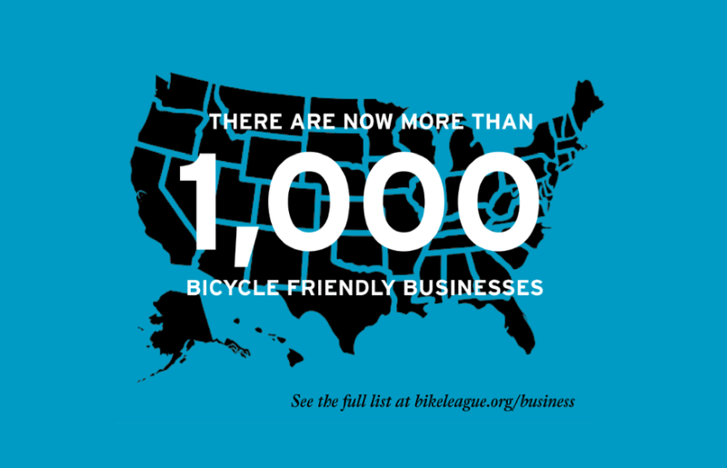 More than 1000 Bicycle Friendly Businesses in USA