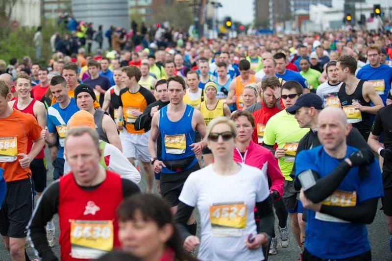 Greater Manchester Marathon running crowd