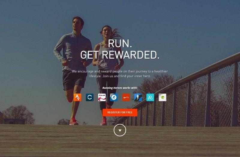 Running Heroes landing page
