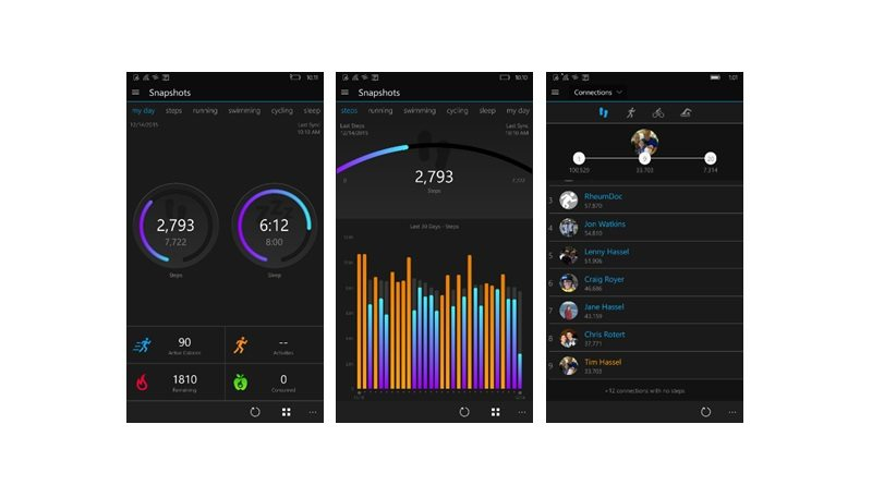 Garmin Connect Mobile screen shots