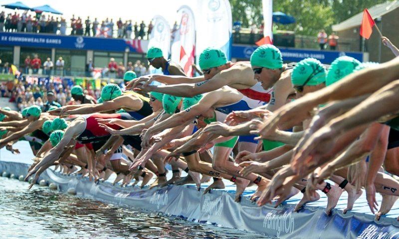 Glasgow Commonweath Games 2014 - Mens Triathlon Swim Start