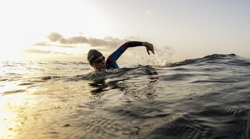 Triathlete swim - photo credit Orca