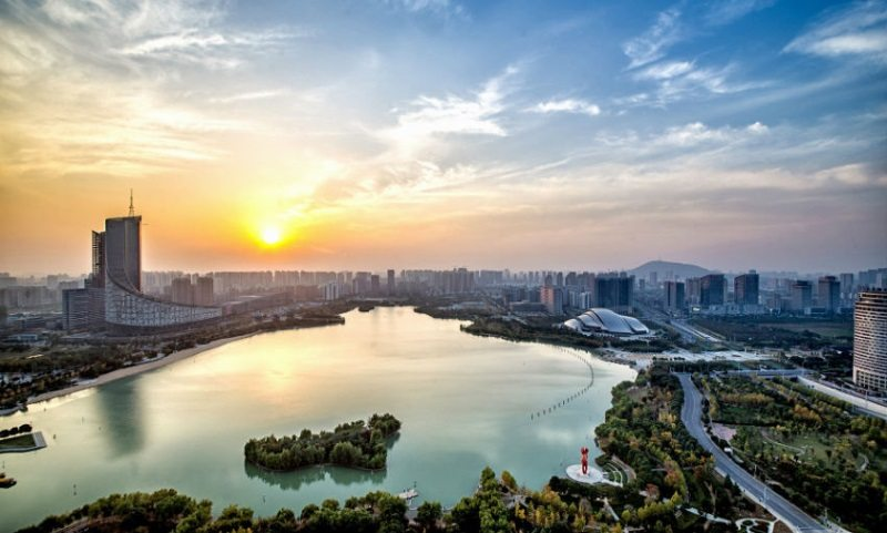 Lake near hotels in Hefei