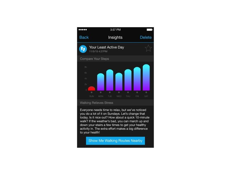 Garmin Connect Insights - screen