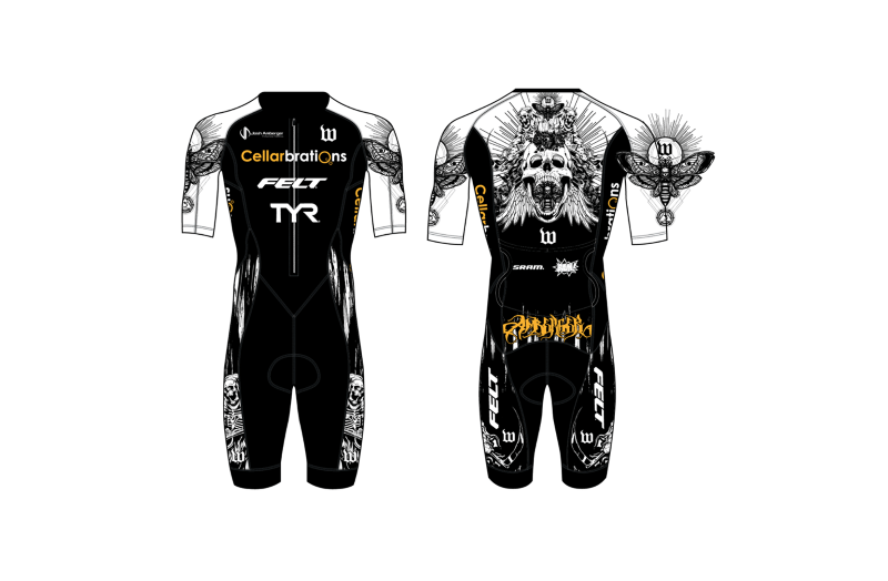 Josh Amberger custom Wattie Ink Death Metal Speedsuit