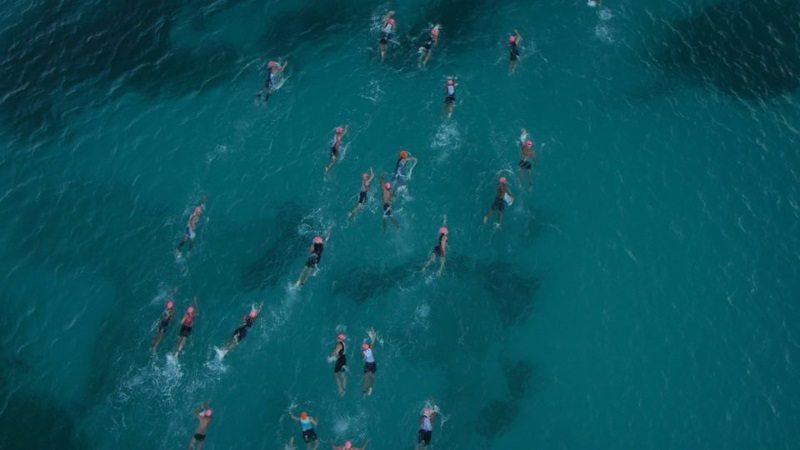 Swimmers in Aruba - photo credit Challenge Aruba - Challenge Family
