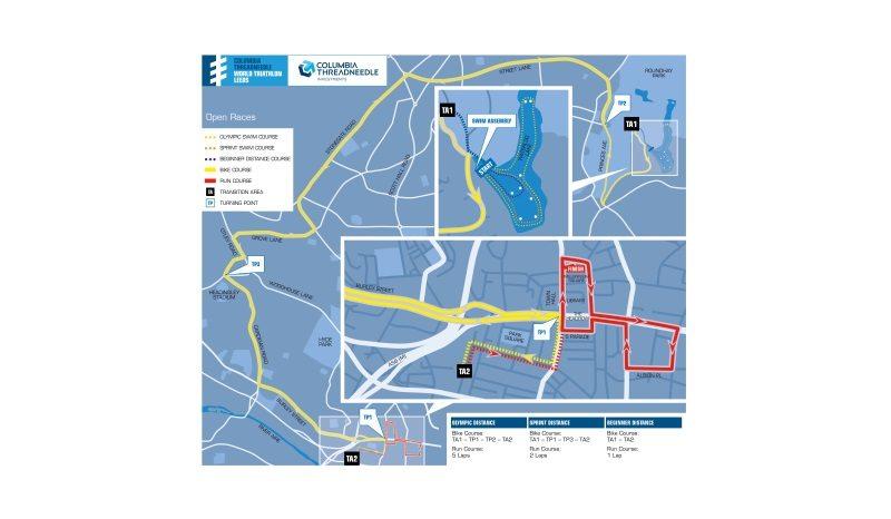 Columbia Threadneedle World Triathlon Leeds - route map