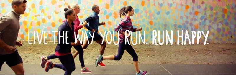 Brooks - live the way you run, run happy banner
