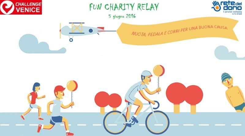 Charity relay event runs alongside inaugural Challenge Venice