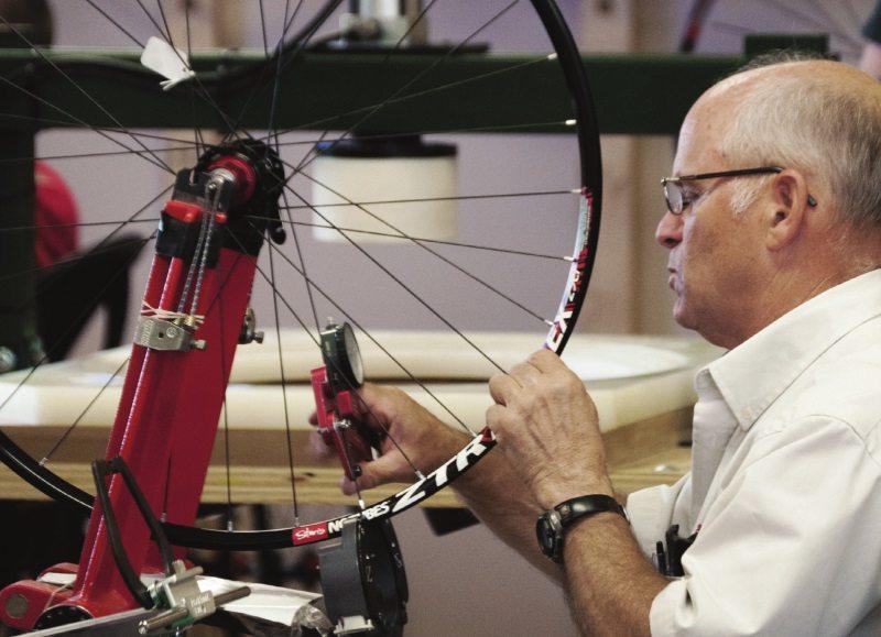 Stan Koziatek building a wheel