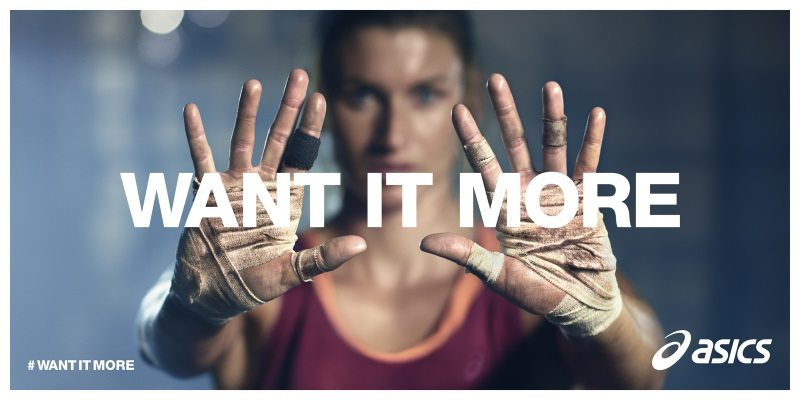 ASICS WANT IT MORE banner 1