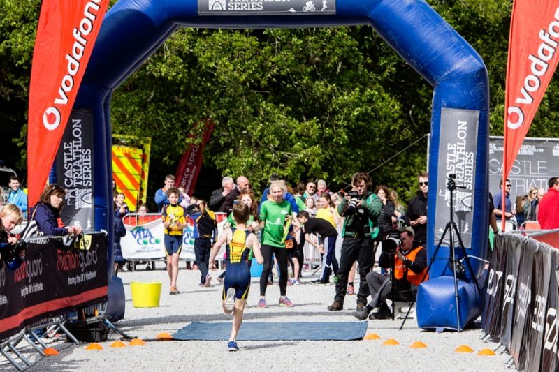 Lough Cutra - kids triathlon - finish