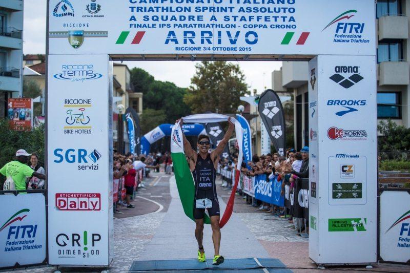 Italian pro triathlete Alessandro Fabian race win