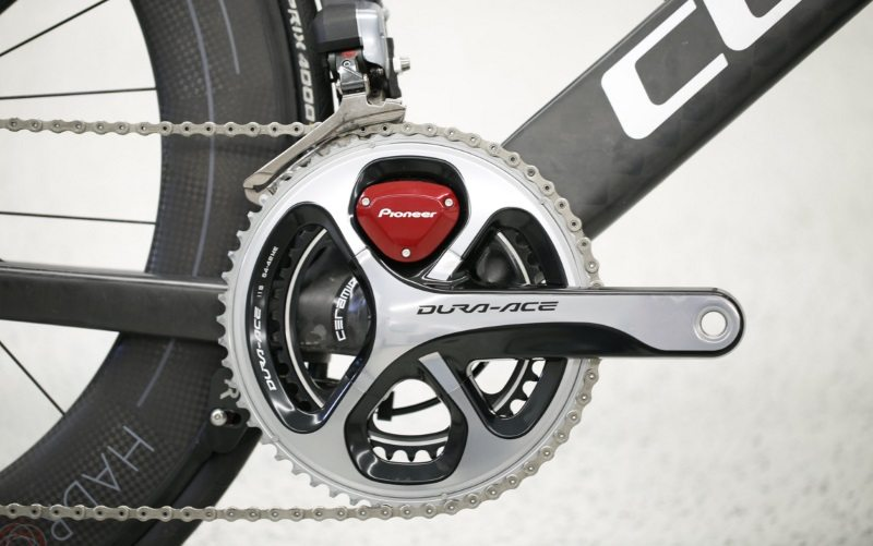 2016 Raelert Brothers bike with Pioneer power meter close up - photo credit CUBE